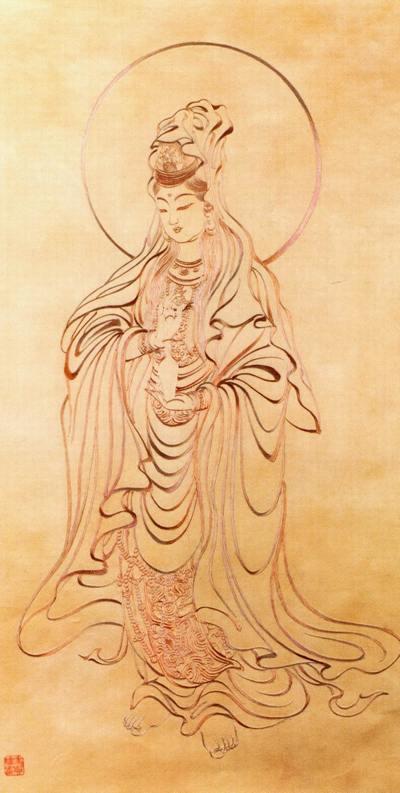 Бодхисатва Гуаньинь (Богиня Милосердия). Художник Цзэн Хоуси