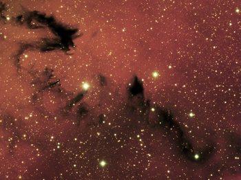 «Китайский дракон» на снимке NGC 6559. Фото: Обсерватория Гемини