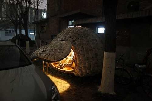 ом-яйцо, в котором живёт Дай Хайфэй. Пекин. Фото с epochtimes.com