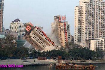 По всему Китаю сносят большое количество новостроек. Провинция Гуанси. Декабрь 2009 год. Фото с epochtimes.com