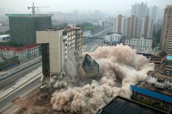 По всему Китаю сносят большое количество новостроек. Шанхай. Фото: Getty Images