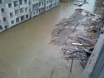 Китай Наводнение в провинции Цзилинь
