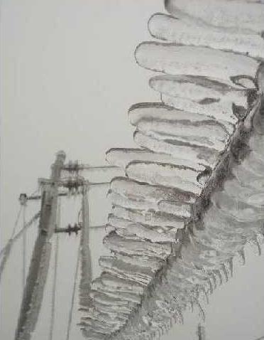 Обледеневшие провода в провинции Гуйчжоу. Фото с epochtimes.com