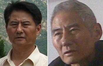 Первое фото Вана Чжаньсо сделано незадолго до ареста, второе сделано недавно. Фото с minghui.org