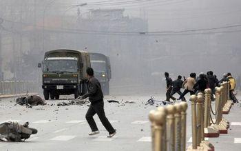 Массовые протесты в тибетской Лхасе. Март 2008 год. Фото: AFP