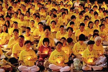 Акция памяти погибших от репрессий в Китае последователей Фалуньгун. Тайвань. Фото: The Epoch Times