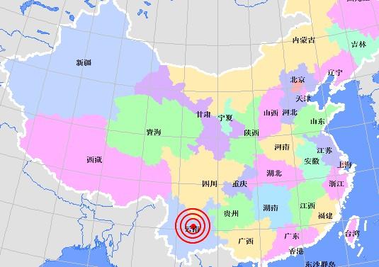 Землетрясение силой 5,1 балла произошло в китайской провинции Юньнань. 25 февраля 2010 год