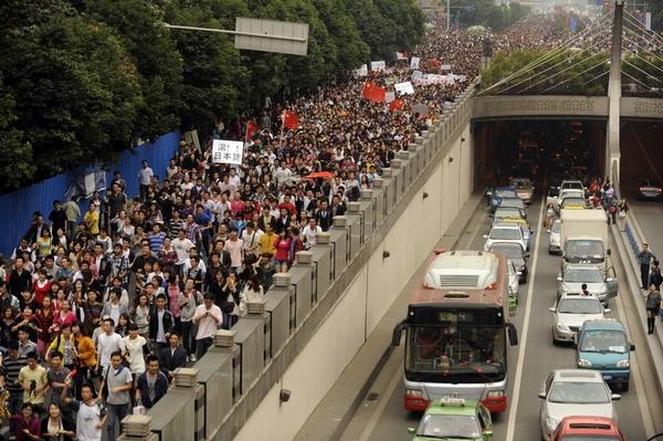 В Китае проходят антияпонские акции протеста. Провинция Сычуань. 16 октября 2010 год. Фото: AFP