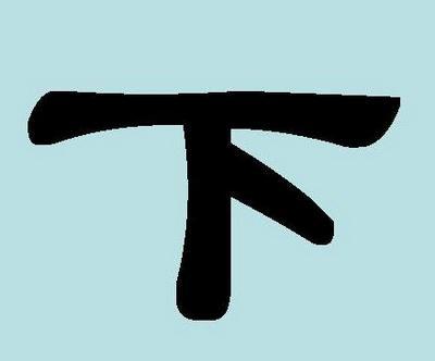 Иероглиф «ся» (xiа) – «нижний», «внизу»