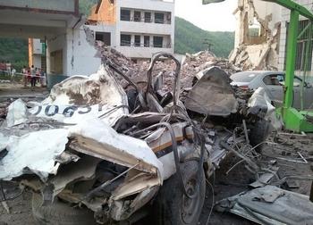 9 июня примерно в  13:00 в Лейяне провинции Хунань  взорвался полицейский участок (веб-фото)