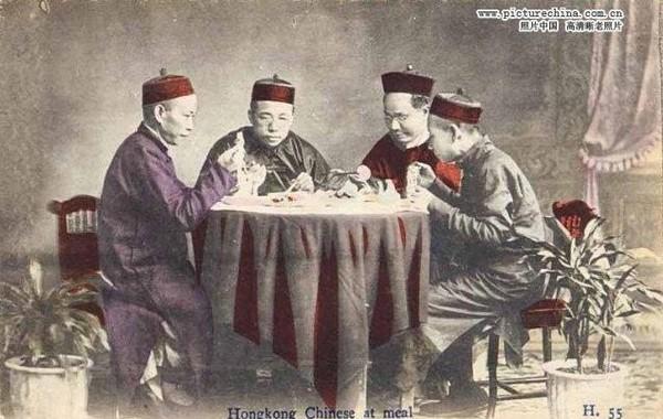 В столовой. Гонконг позднего периода династии Цин. Фото: history.huanqiu.com