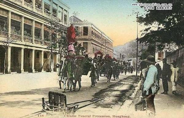 Похоронная процессия. Гонконг позднего периода династии Цин. Фото: history.huanqiu.com