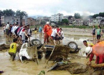 Засуха в  КНР  сменилась ливнями и  наводнениями,  погибли 14 человек. Фото с news.qq.com