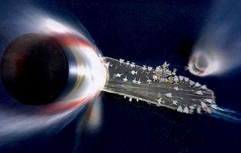 «Носители-убийцы»: широко распространенная в Интернете графика, по-видимому, китайского производства, показывает две ракеты, направленные на авианосец США. (Интернет-образ)