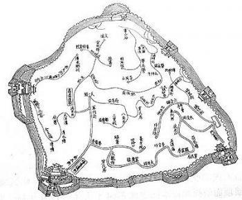 Схема дренажных каналов времен династии Цин.