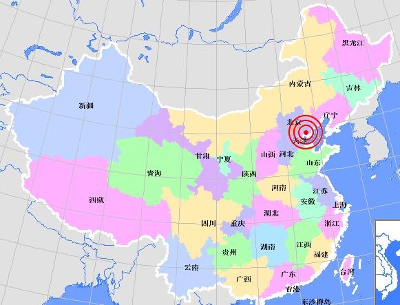 Землетрясение силой 4,1 балла произошло в городе Таншань провинции Хэбэй. 9 апреля 2010 год