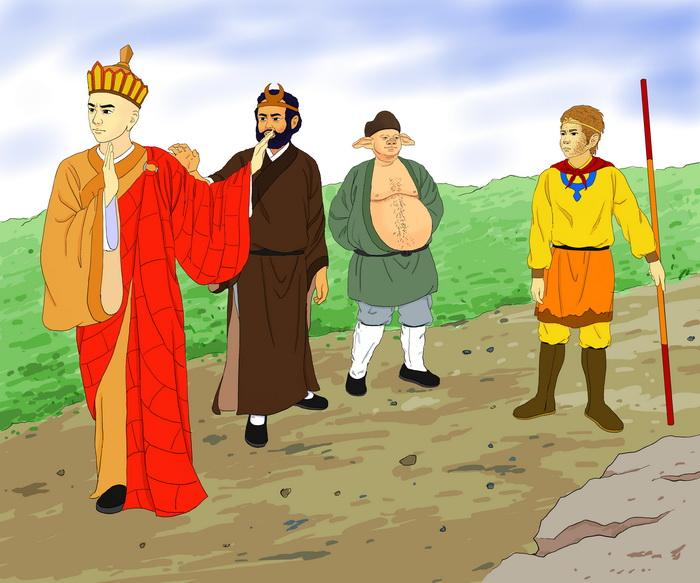 Монах Тан винит Короля Обезьян в убийстве трёх человек и больше не принимает его, как своего ученика. Иллюстрация: Чжицин Чэн/Великая Эпоха (The Epoch Time)