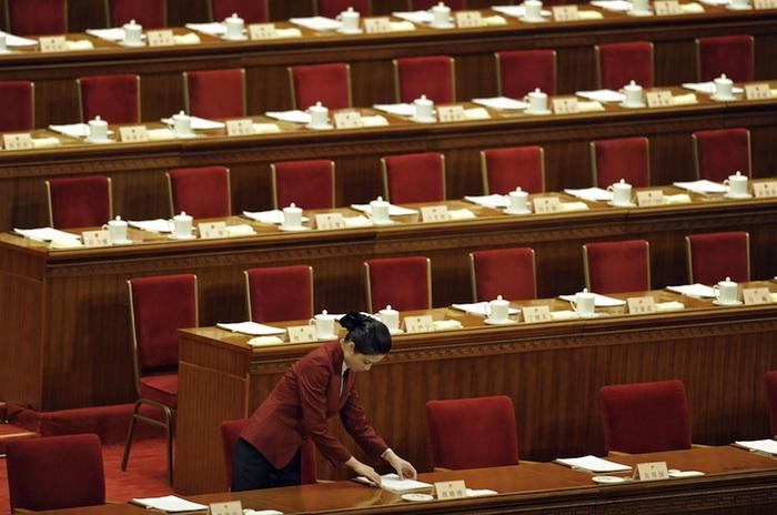 18-й национальный съезд коммунистической партии Китая состоится 8 ноября 2012 года в Большом Народном Зале в Пекине. Си Цзиньпин станет генеральным секретарём партии, а Ли Кэцян займёт пост премьер-министра. Фото: Liu Jin/AFP/Getty Images