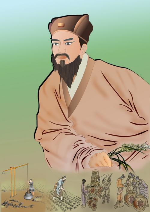Цзя Сысе - автор первой сельскохозяйственной энциклопедии Китая. Иллюстрация: Катерина Чан