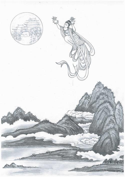 Лунная дева Чанъэ. Иллюстрация: Юэань Фан/Великая Эпоха