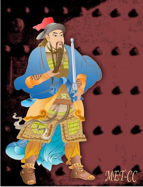 Цинь Шубао – храбрый и непреклонный воин династии Тан. Иллюстрация: Катерина Чан/Великая Эпоха (The Epoch Times)