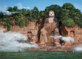 Гигантская статуя Будды Лэшань. Фото с сайта en.kanzhongguo.com
