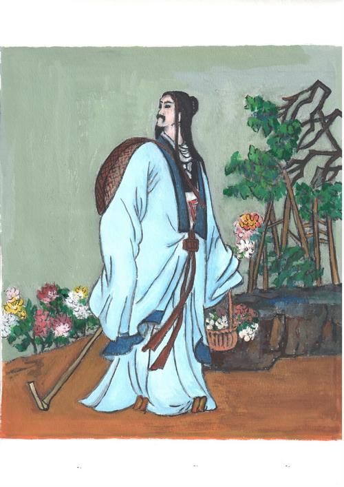 Тао Юаньмин — величайший поэт. Иллюстрация: Киока Чу