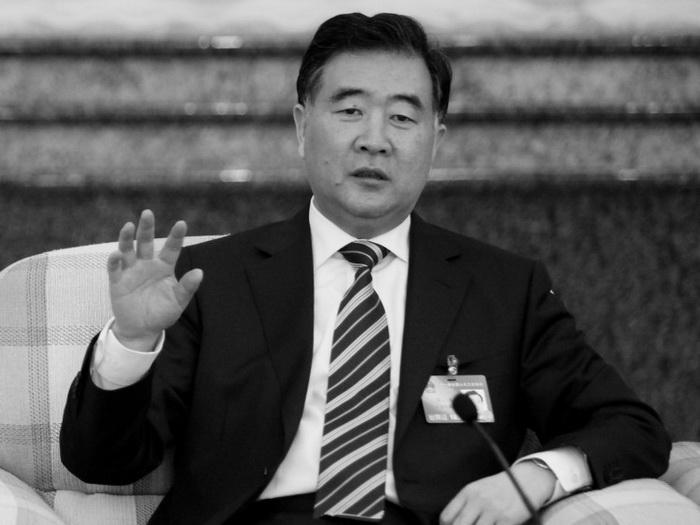 Ван Ян, известный реформатор, выступающий против сторонников жёсткой линии, на встрече политиков в Гуандуне, март 2010 г. Фото: Liu Jin/AFP/Getty Images