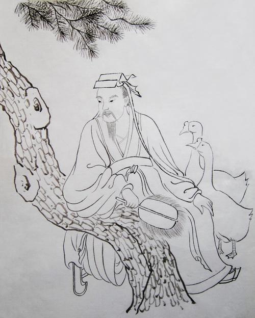 Ван Сичжи - божество каллиграфии. Иллюстрация: Джейд/Великая Эпоха (The Epoch Times)