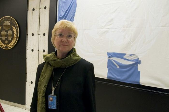 Карен Паркер, главный представитель «Международного образовательного развития», НПО при Организации Объединённых Наций в Женеве, рассказала об извлечении органов у узников совести в Китае. Фото: Дун Юнь/Великая Эпоха