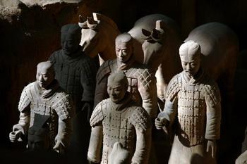 В музее китайской терракотовой армии. Фото: China Photos/Getty Images