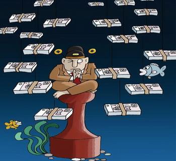 Карикатура, изображающая «голого» китайского чиновника, который перевёз семью и активы за рубеж, и сам готов сбежать в любое время. Фото: New Epoch Weekly Photo Archive