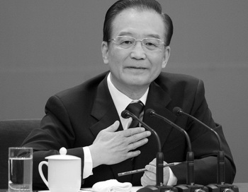 Китайский премьер-министр Вэнь Цзябао принимает участие в пресс-конференции 14 марта 2012г. в Пекине, Китай. Фото Lintao Zhang/Getty Images