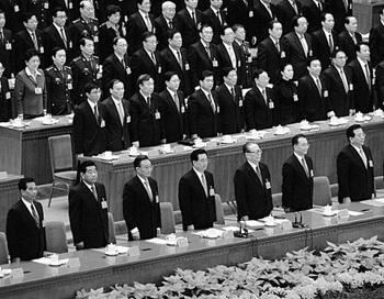 17-й Всекитайский съезд коммунистической партии Китая, 21 октября, 2007 года в Пекине. 18-й Всекитайский съезд коммунистической партии Китая, запланированный на осень 2012 года, может быть отложен из-за усиливающей внутрипартийной борьбы. Фото: Guang Niu/Getty Images