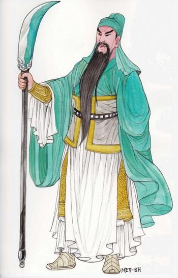 Гуань Юй — священный воин, преданный и справедливый. Иллюстрация: Блу Сяо/Великая Эпоха (The Epoch Times)