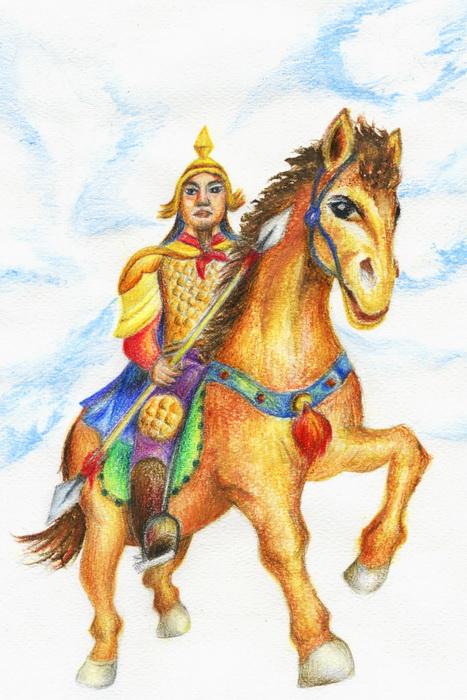 Го Цзыи, великий генерал, который единолично спас династию Тан. Иллюстрация: Jessica Chang/Великая Эпоха (The Epoch Times)