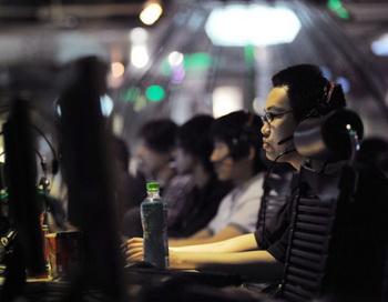 В интернет-кафе в Китае.  Фото: AFP/Getty Images