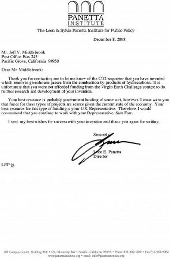 Отсканированная копия письма бывшего министра обороны Леона Э. Панетты, 8 декабря 2008 года. Фото с сайта theepochtimes.com