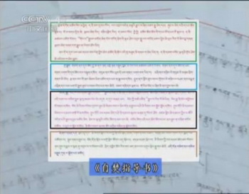 Скриншот из документального фильма Центрального телевидения Китая, в котором утверждается, что у тибетцев существует инструкция по самосожжению. Тибетские группы заявили, что это ложь. Фото с сайта theepochtimes.com