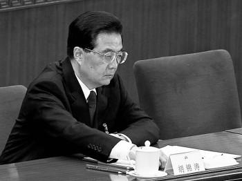 Китайский лидер Ху Цзиньтао на заключительном заседании Национального съезда Народных представителей 14 марта 2012 г. Фото: Lintao Чжан/Getty Images