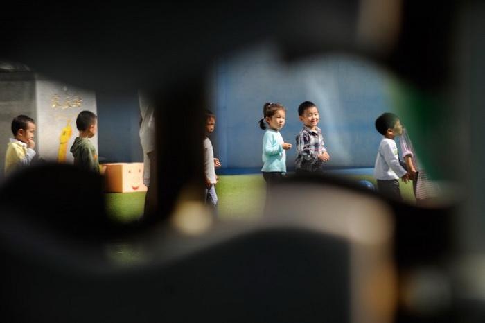 Дети в детском саду в Пекине, 19 сентября 2012 года. Фото: Wang Zhao/AFP/Getty Images
