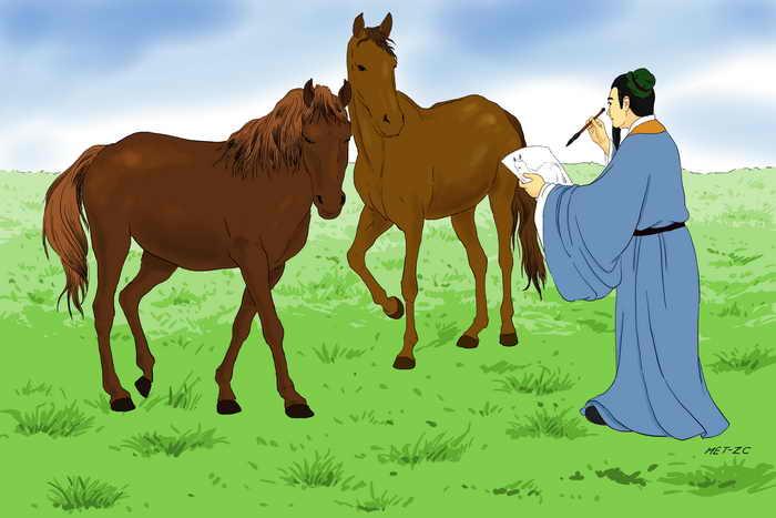 Хань Гань — выдающийся художник династии Тан. Иллюстрация: Чжичин Чэнь