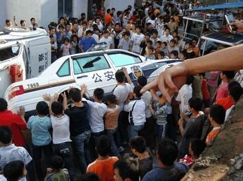 В Китае растёт количество народных протестов. Фото с epochtimes.com