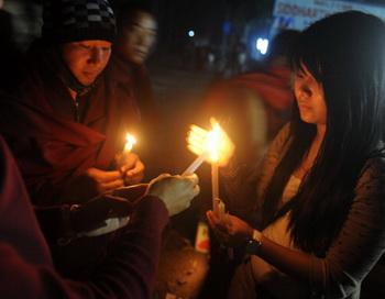 Тибет: Фото: DIPTENDU DUTTA/AFP/Getty Images