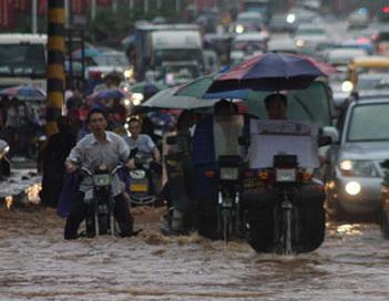 В Китае от наводнений погибли пять человек, двое пропали без вести. Фото:news.day.az/world