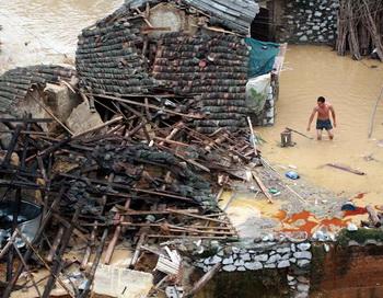 В Китае от наводнения погибли 16 человек. Фото:vigivanie.com