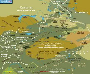 Синцзян Уйгурский автономный район. Фото:svali.ru