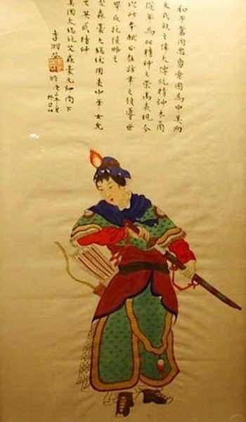Хуа Мулан идет на войну, масло, шёлк. Фото Wikimedia Commons