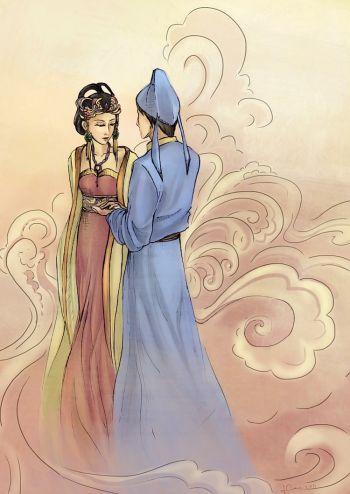 Ученый Лю И и принцесса дракона поженились. Фото: Шаошао Чэнь /Великая Эпоха