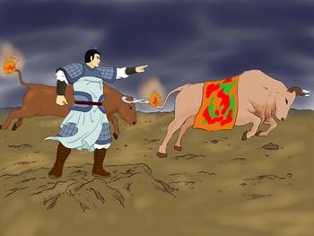Тянь Дань восстановил государство из одного, оставшегося свободным, города. Иллюстрация: Чжичин Чэнь/Великая Эпоха (The Epoch Times)
